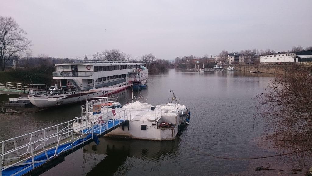 Ein Blick auf die schöne Elbe