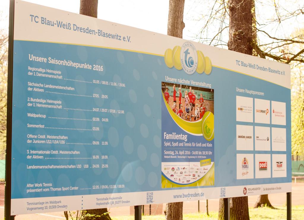 Mit über 700 Mitgliedern ist der Tennisclub Blau Weiss der größte Sportverein der neuen Bundesländer