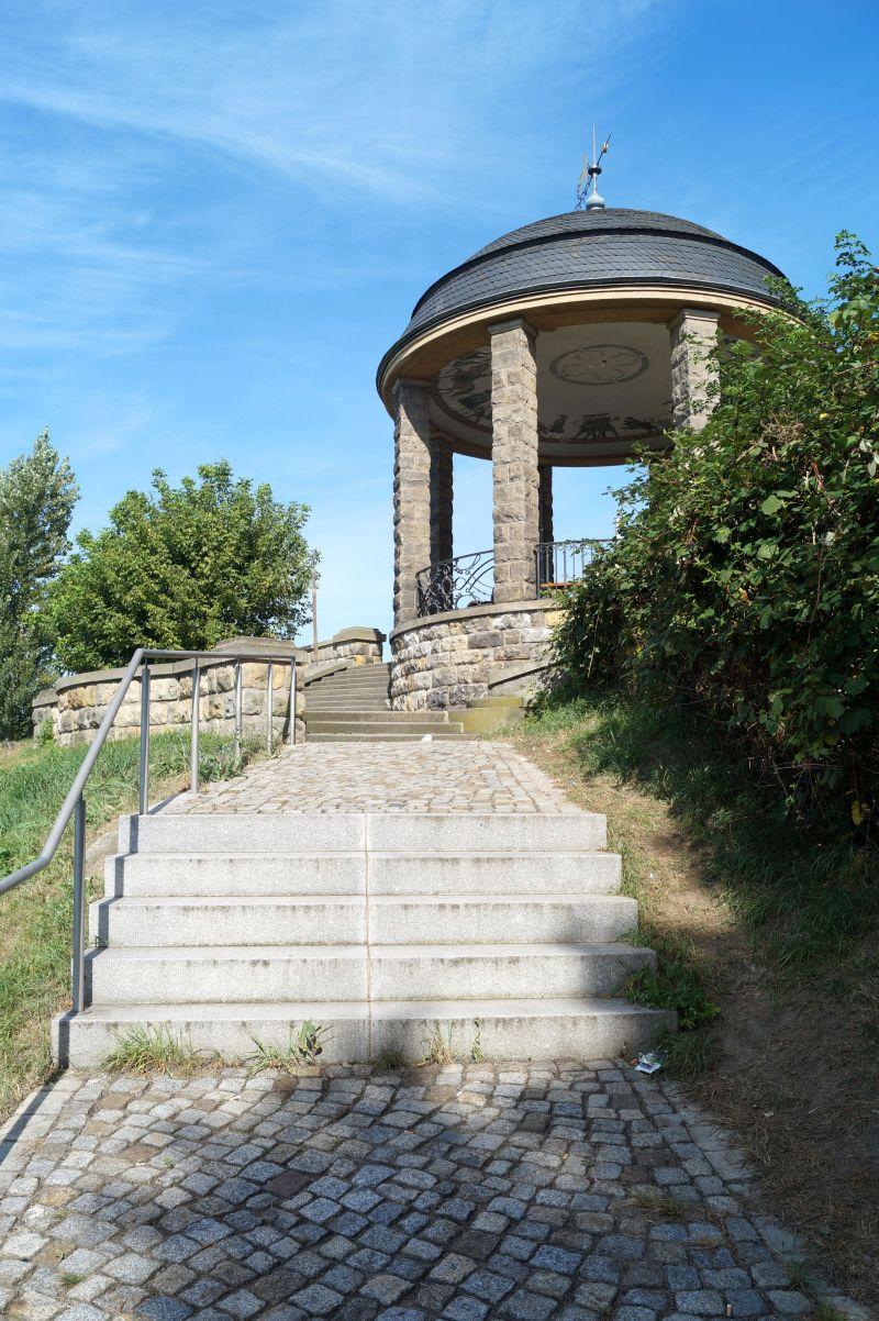 Vom Aussichtpavillon am Waldschlösschen hast du eine einzigartige Sicht auf die Altstadt