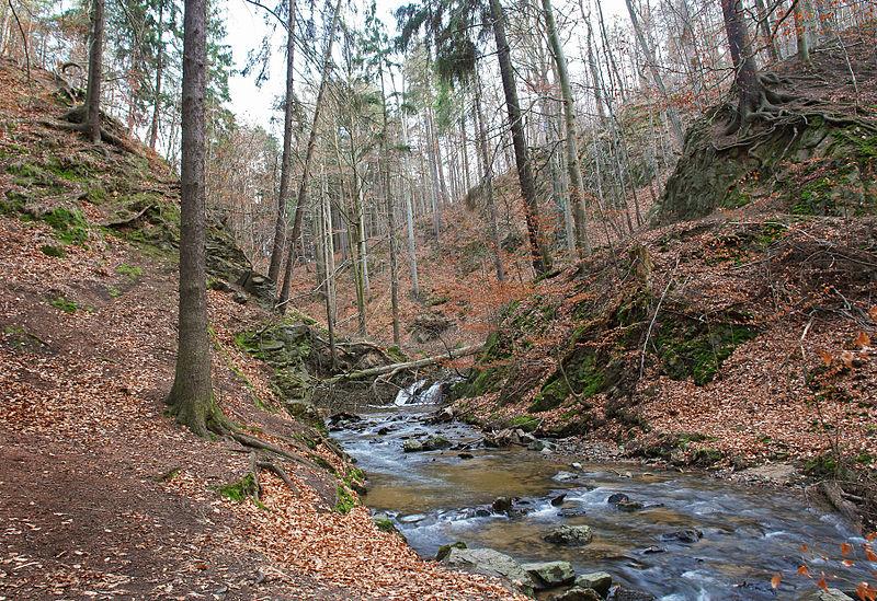 Wasserfall der Prießnitz bei Klotzsche. © Kolossos, CC BY-SA 2.5