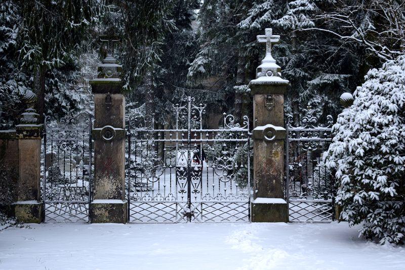 Waldfriedhof in der Nähe des Weißen Adlers