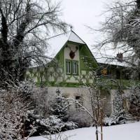 Hirschgeweihe finden sich am Weißen Hirsch an zahlreichen Villen als Schmuckelement wieder