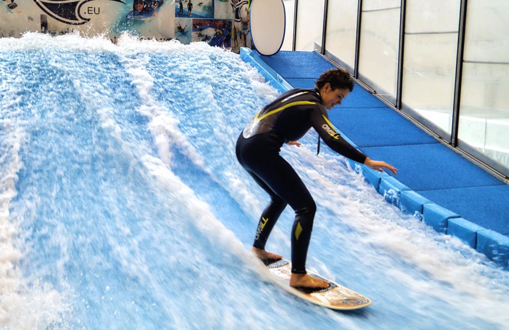 Für viele war das Surfen das Highlight der Messe.