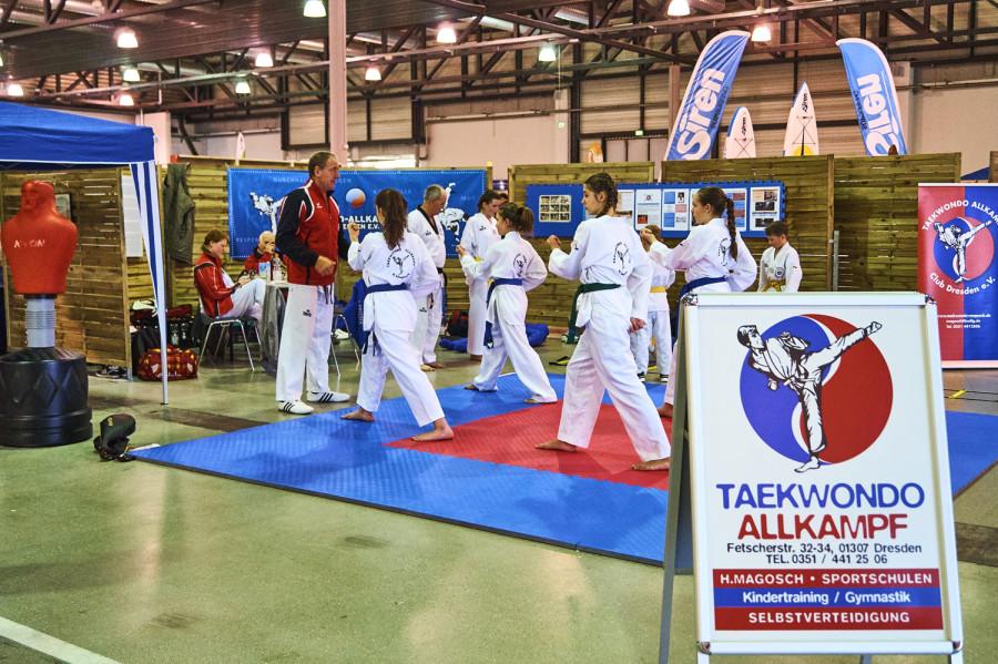 Beim Taekwondo konnte man die ersten Grundregeln der Selbstverteidigung erlernen.