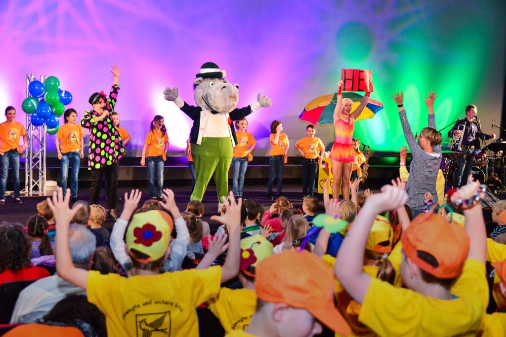 Das Dixieland-ABC sorgt für viel Spaß unter den kleinen Besuchern. Foto © by Hendrik Meyer
