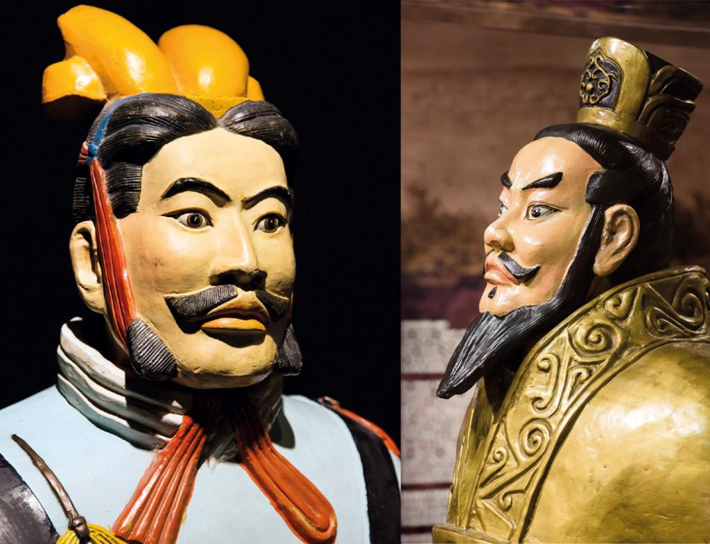 Kaum zu glauben das alle Statuen früher bemalt waren. ©Pressefoto
