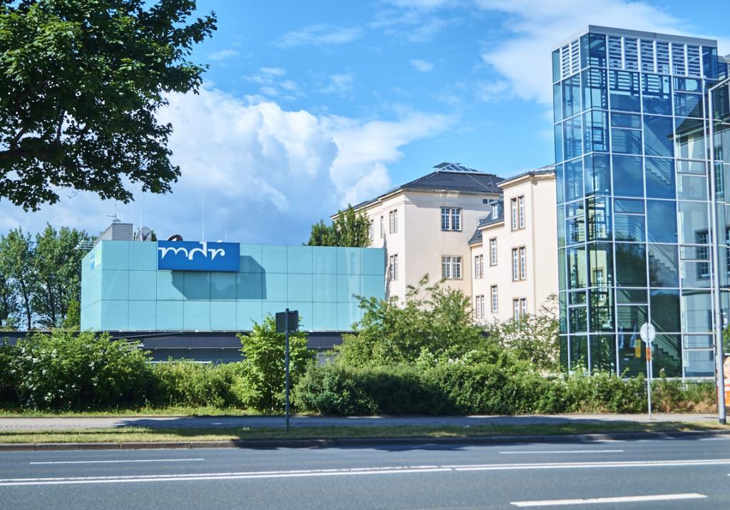 Gebäude des MDR in der Albertstadt