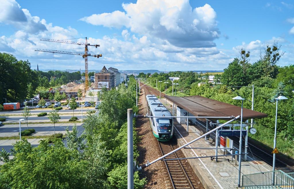 """Die S-Bahn Haltestelle """"Dresden Industriegelände"""""""