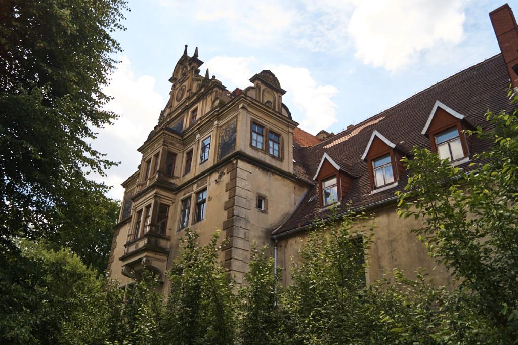 Das Schloss Gauernitz. Im Moment leider sehr baufällig.