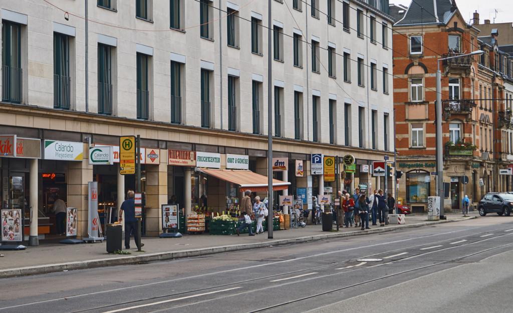 Das Gebiet am Wasaplatz ist ein beliebtes Einkaufsviertel