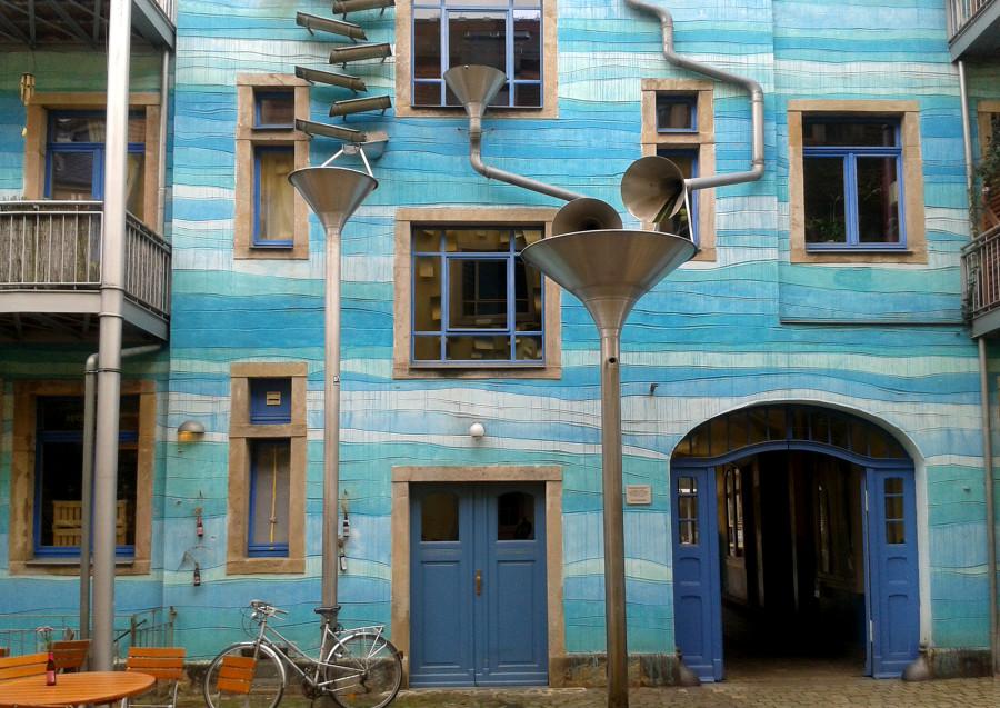 Die Kunsthofpassage in der Äußeren Neustadt