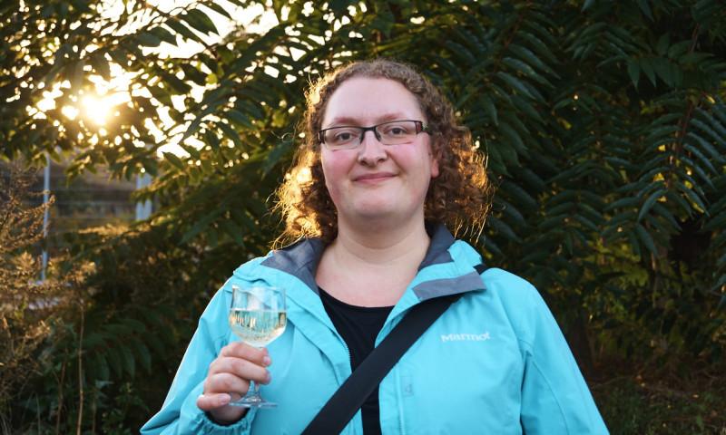 Für Jana Faske ist das Weinfest jedes Jahr ein Muss.