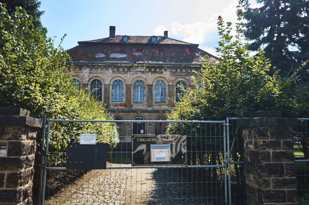 Das Schloss Übigau befindet sich derzeit leider in einem schlechten Zustand.