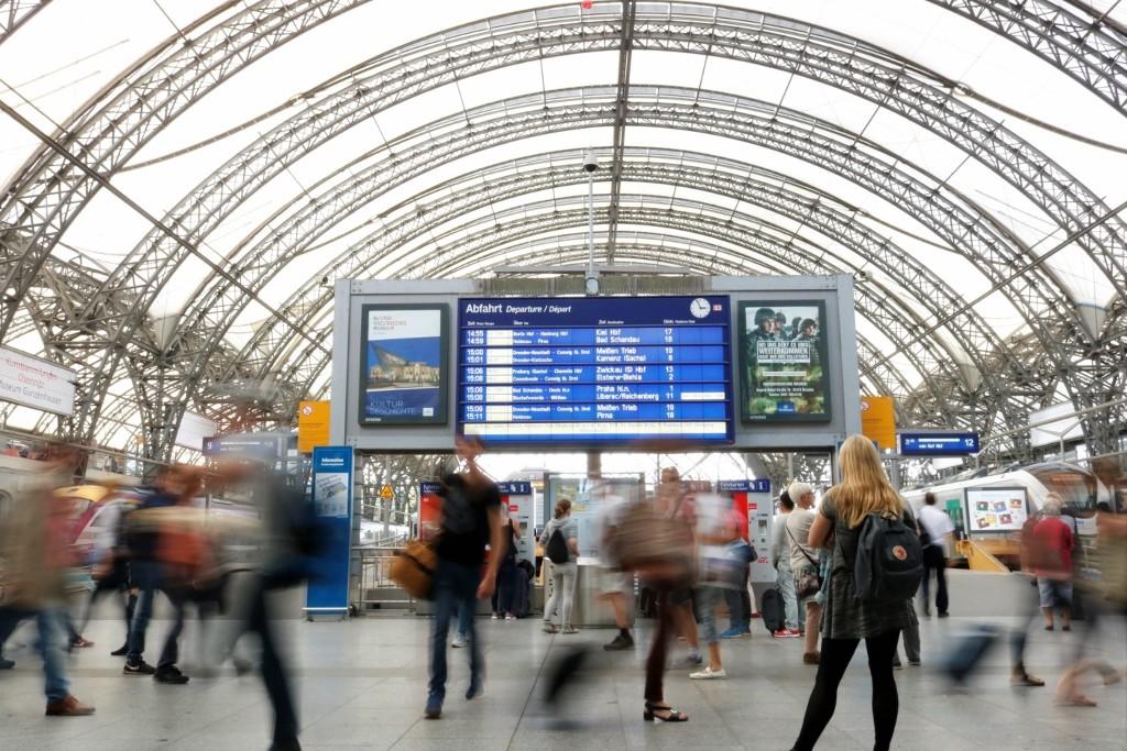 Vom Hauptbahnhof geht es los.