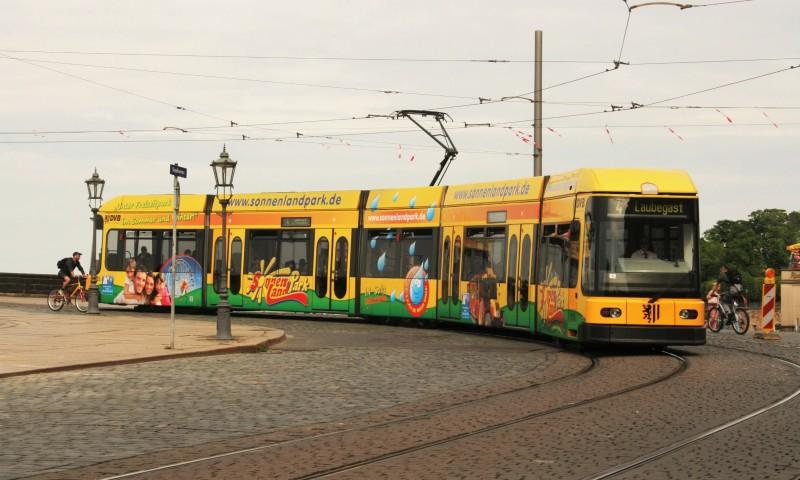 Die Linie 4 der Straßenbahnen.