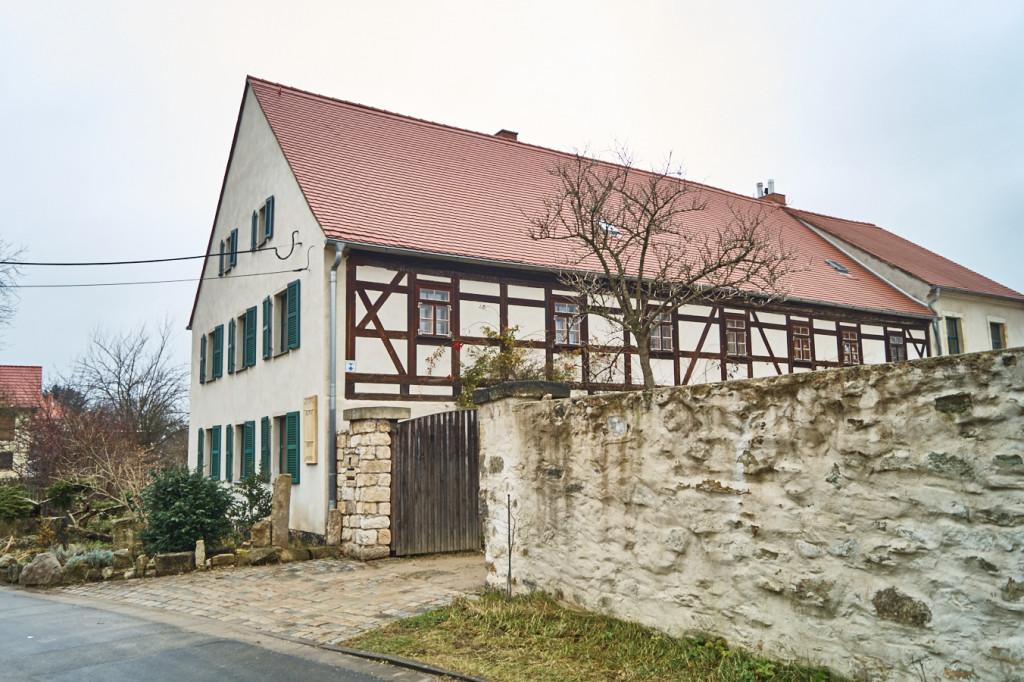 historisches Haus am Windmühlenweg, ältestes Haus von Gohlis