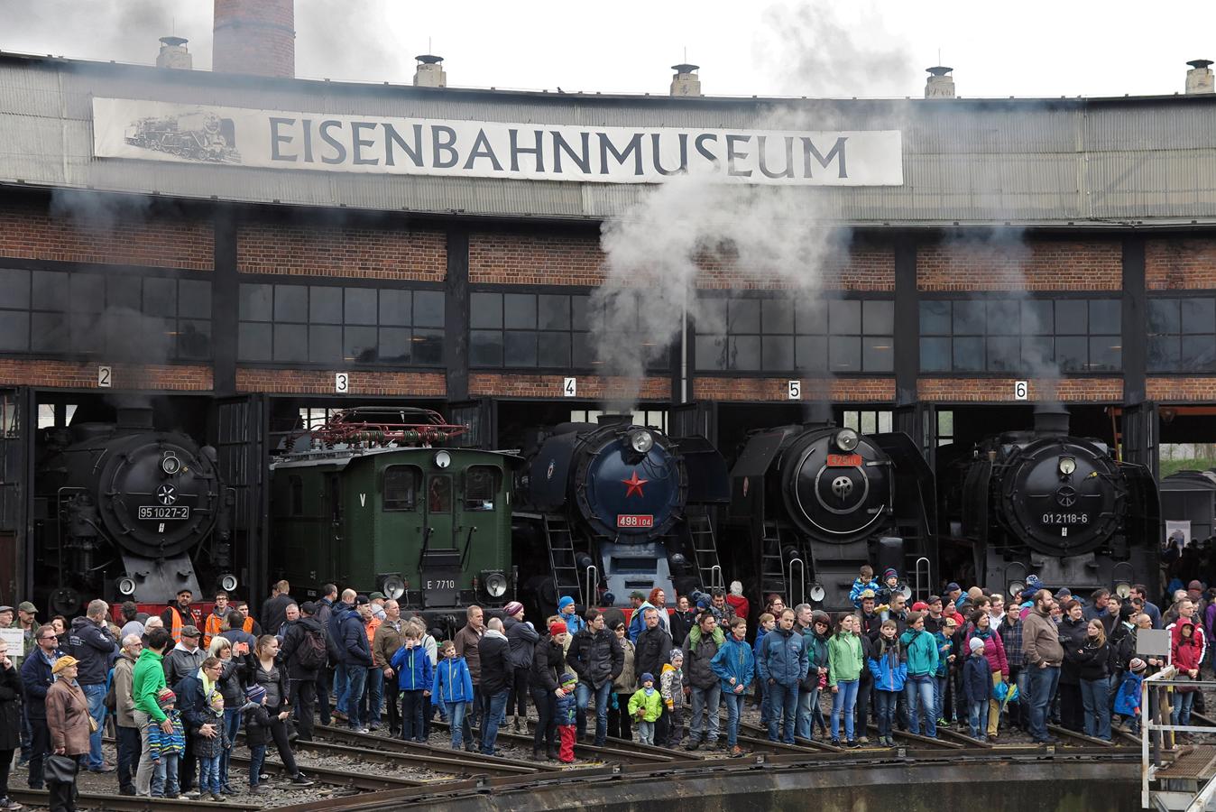 """©Christof Schroefl Alljährliches Hauptevent ist unzweifelhaft das """"Dresdner Dampfloktreffen"""""""