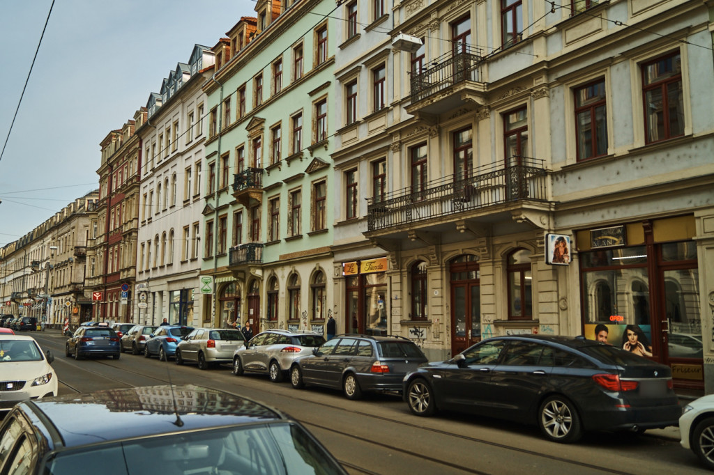 Mehrere Wohnhäuser aus der Gründerzeit in der Äußeren Neustadt