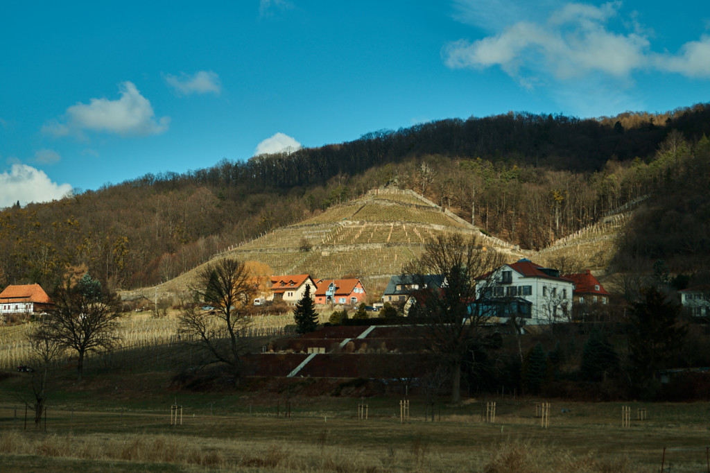 Oberpoyritz am Rande des Borsbergs