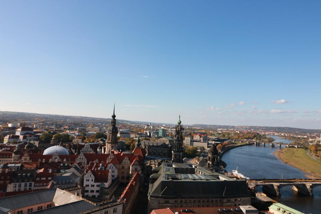 Aussicht der Frauenkirche in Dresden