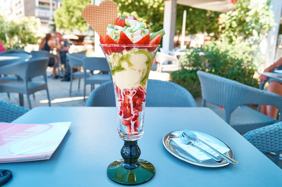 Der Coppa-Italia-Eisbecher. Unglaublich fruchtig und lecker.