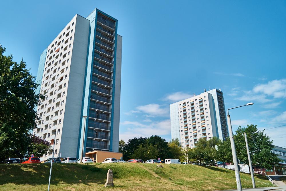 Hochhäuser in Zschertnitz