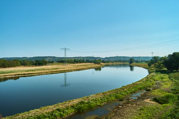 Blick auf die Elbe in Niederwartha
