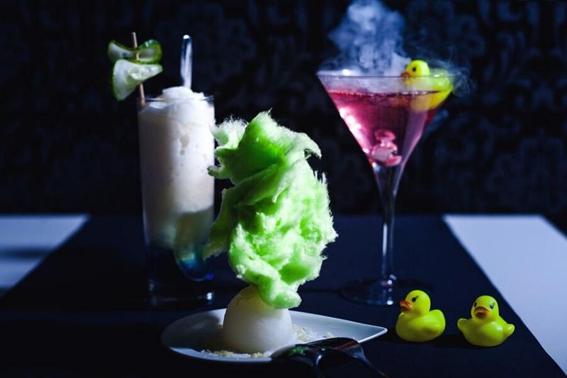 Sogar essbare Cocktails stehen zur AUswahl.