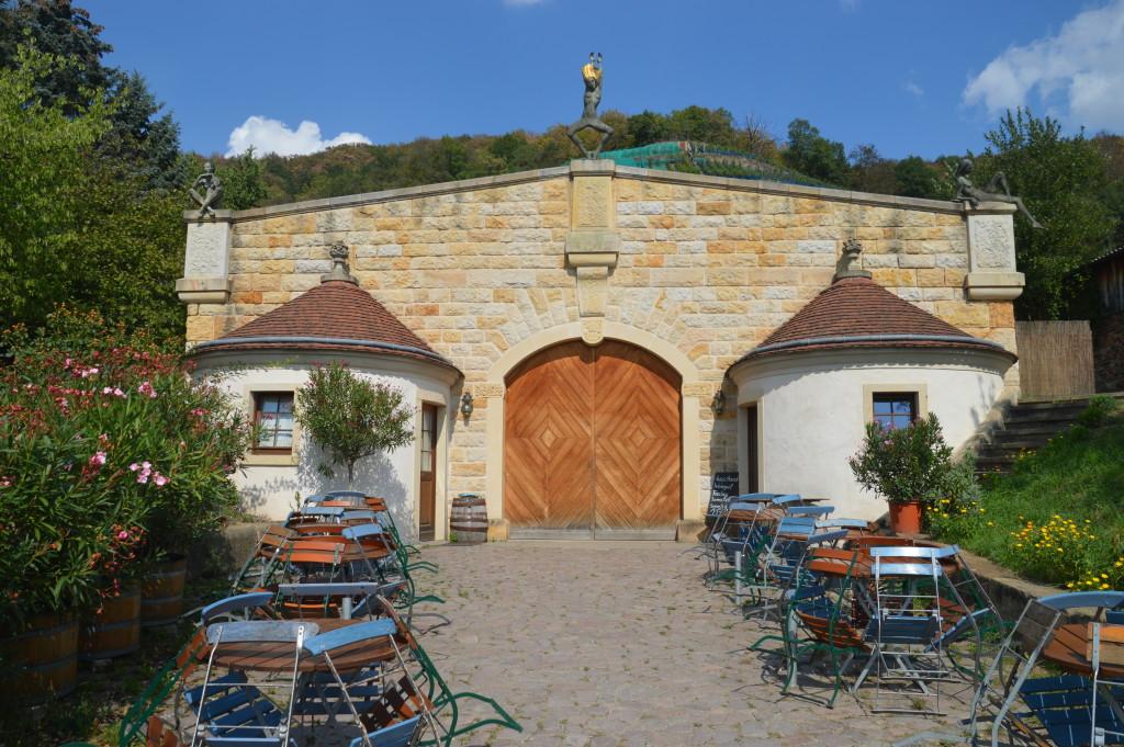 Das idyllische Weingut Zimmerling am Königlichen Weinberg Pillnitz