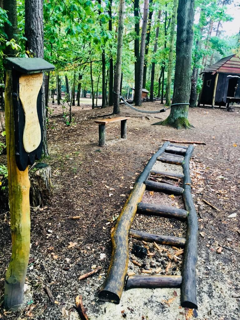 Der Waldspielplatz im Albertpark ist ein Erlebnis für alle Sinne