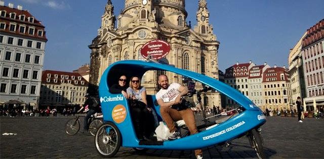 Wie in fernen Ländern die Stadt mit einer Rikscha erkunden.