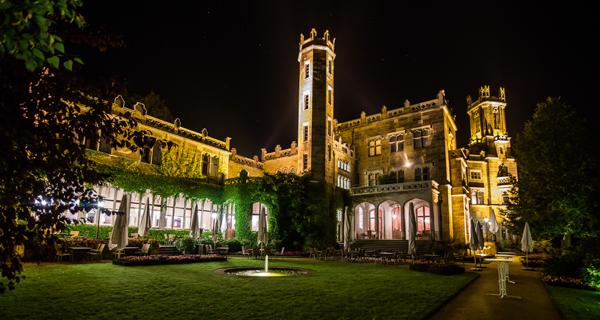©Schloss Eckberg Auch bei Nacht ist das Schloss ein herrlicher Anblick.