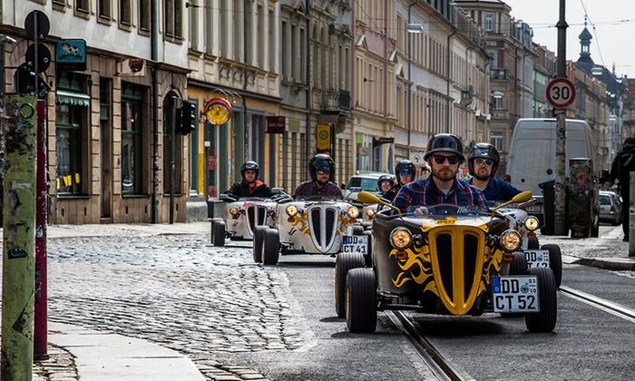 """Eine aufregende Stadtrundfahrt - mit dem """"Mini Hot Rod"""" durch Dresden rasen"""