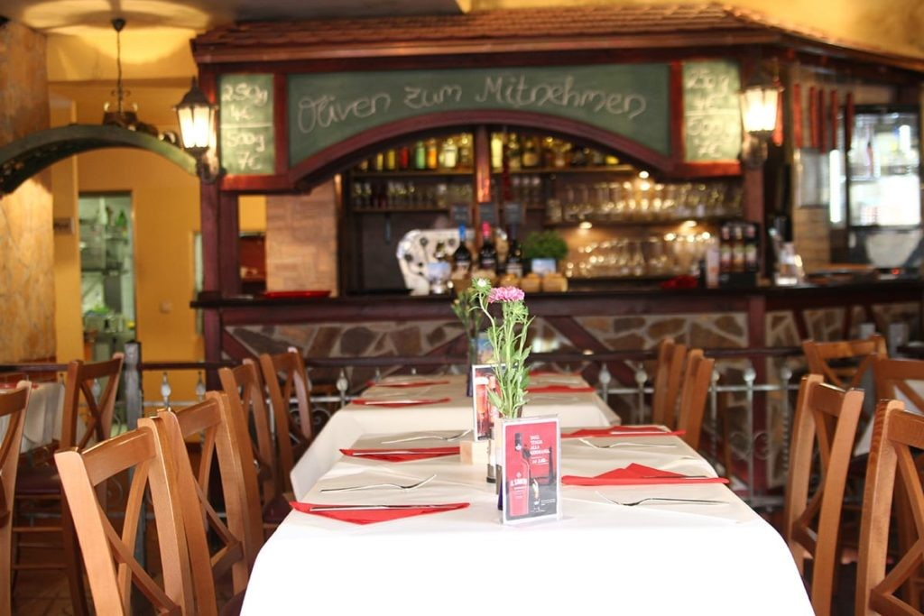 Blick auf die Bar im Da Michele.