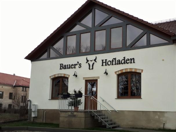 Der Eingang zum Hofladen in Langebrück.