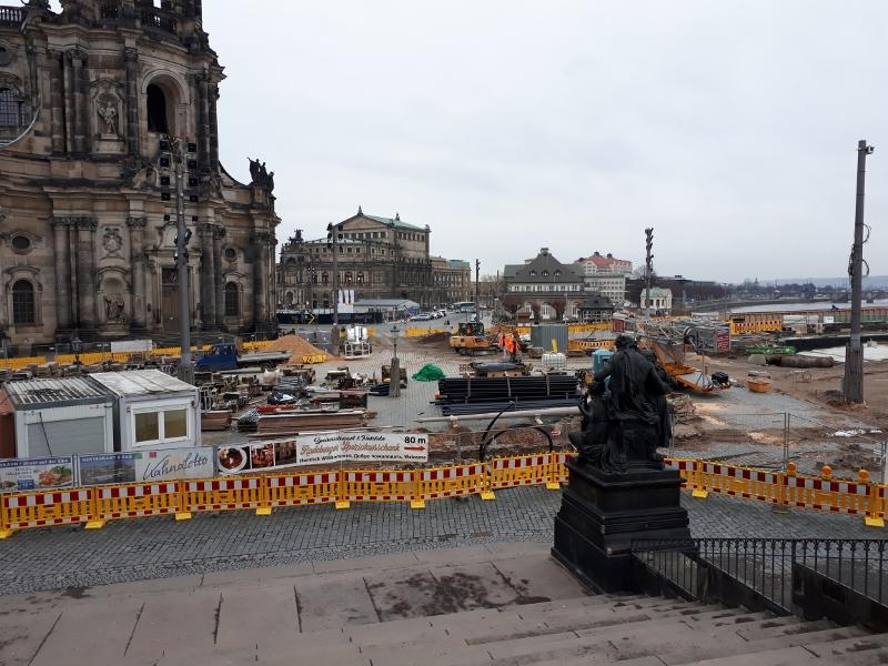 Dauerbaustelle Dresden.