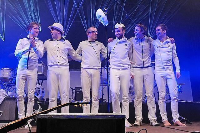 Polarkreis 18 nach einem Auftritt.
