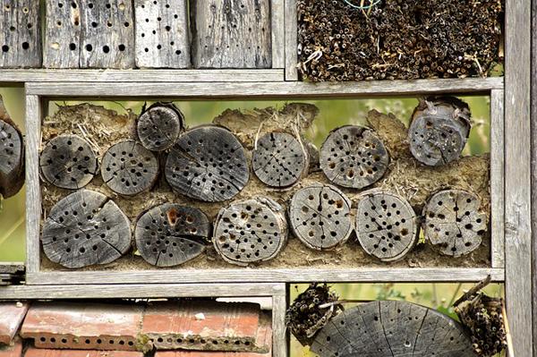 Auch Insektenhotels werden hier angefertigt.