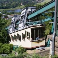 Die Dresdner Bergbahn in Betrieb.