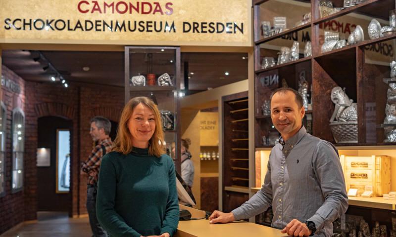 ©CAMONDAS - Museumsleiterin Ines Seifert und Geschäftsführer Ivo Schaffer