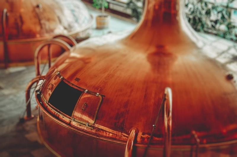 Hier wird Bier hergestellt.
