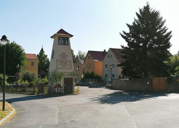 Blick auf die Kreuzung in Wilschdorf.