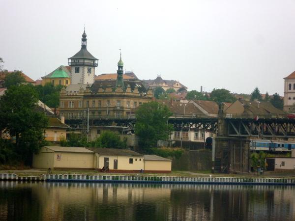 Blick auf Roudnice nad Labem
