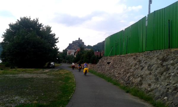 Mutig in Richtung Burg Schreckenstein