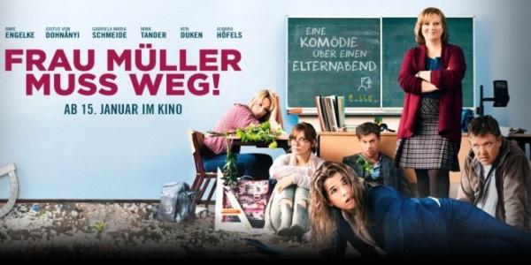 """Werbeplakat zur Kinoankündigung der Komödie """"Frau Müller muss weg""""."""